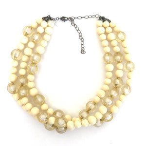 Ivory & Cream Givre' Morgan Beaded Necklace