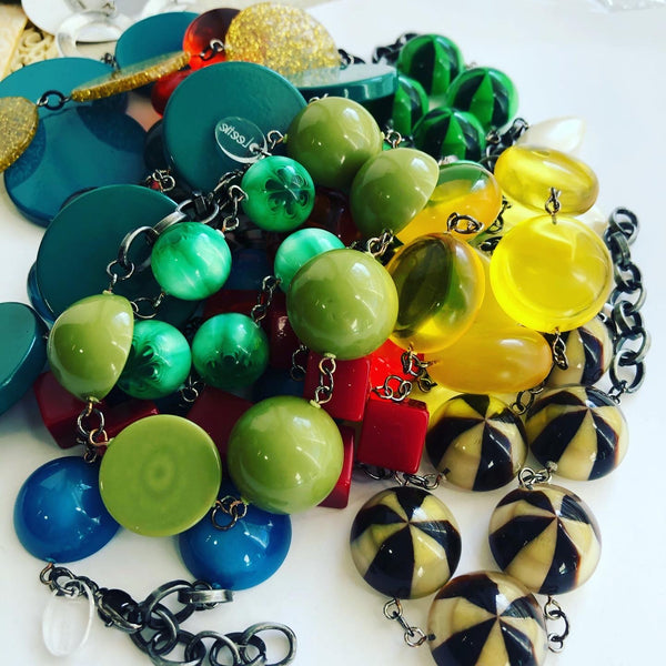 colorful lucite jewelry