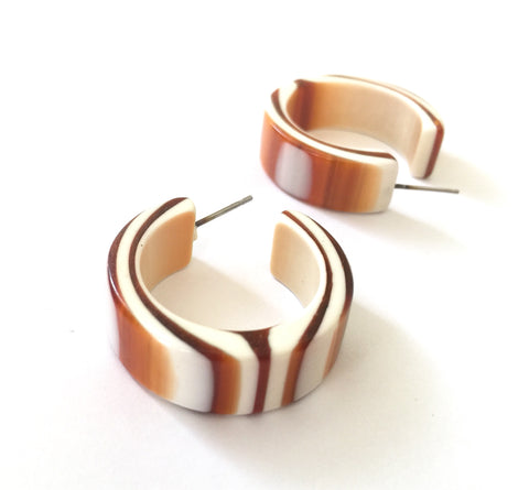 tortoise stripe hoops