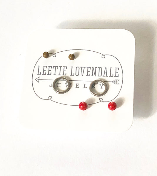 red green studs