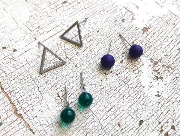 tiny earrings set studs