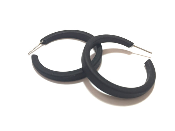 big frosted black hoops