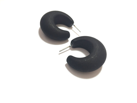 black snail shell hoops