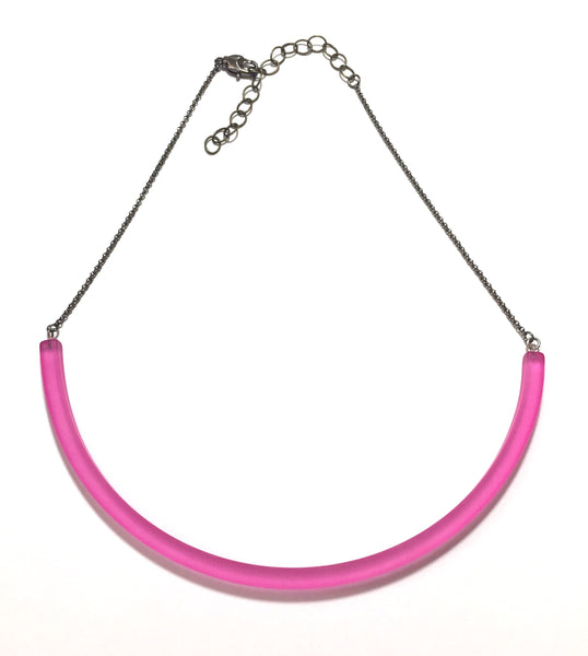 pink lucite necklace