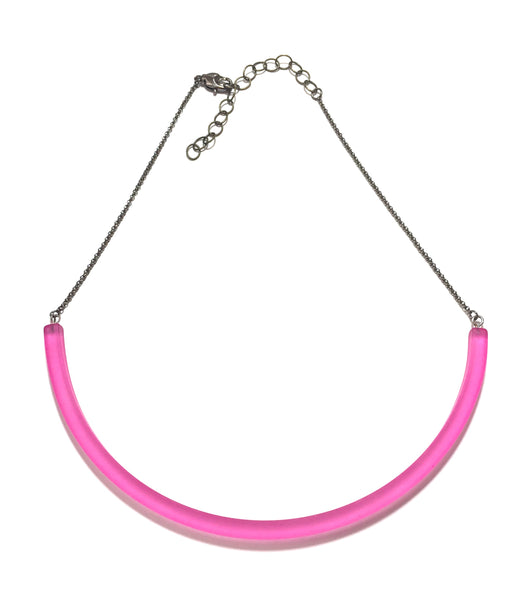pink minimalist necklace