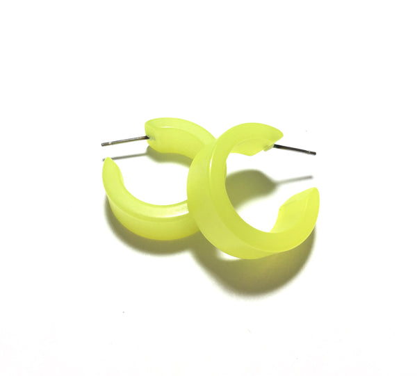 bright yellow moonglow earrings