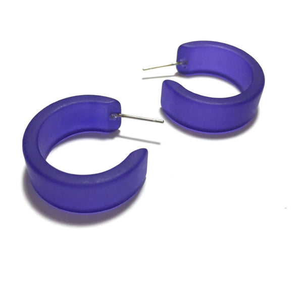 cobalt frosted hoops