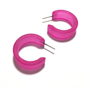 hot pink hoop earrings