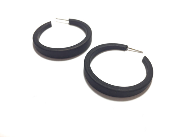 frosted black hoops big