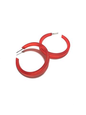 big cherry red hoops