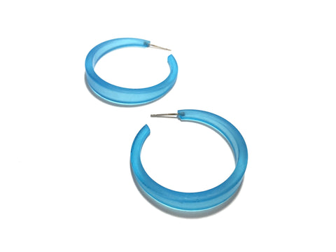 aqua blue earrings hoops