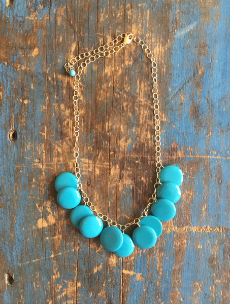 dark turquoise necklace