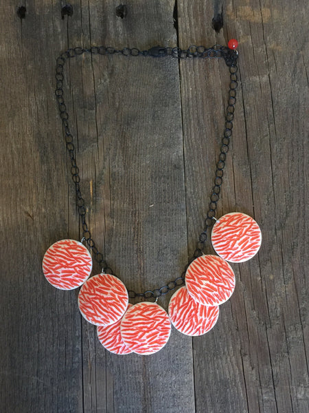 adjustable coral necklace
