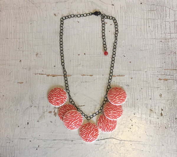 salmon cream necklace