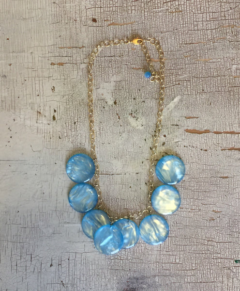 blue poker necklace