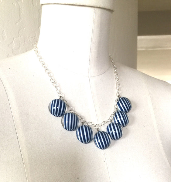 adjustable blue necklace