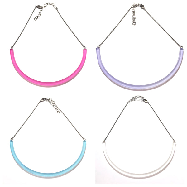 lucite leetie necklaces