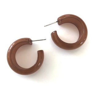 copper brown earrings