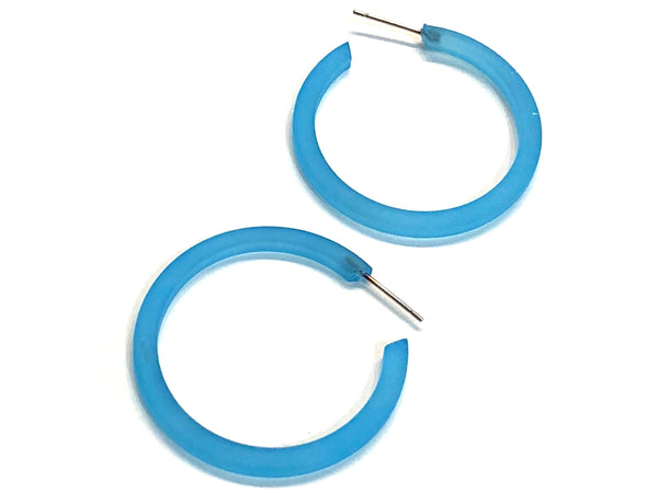 bright blue hoops
