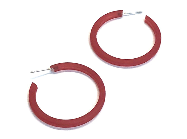 deep red hoops