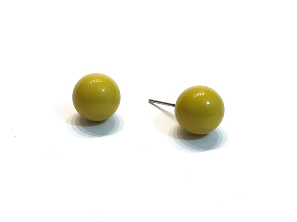 olive green studs