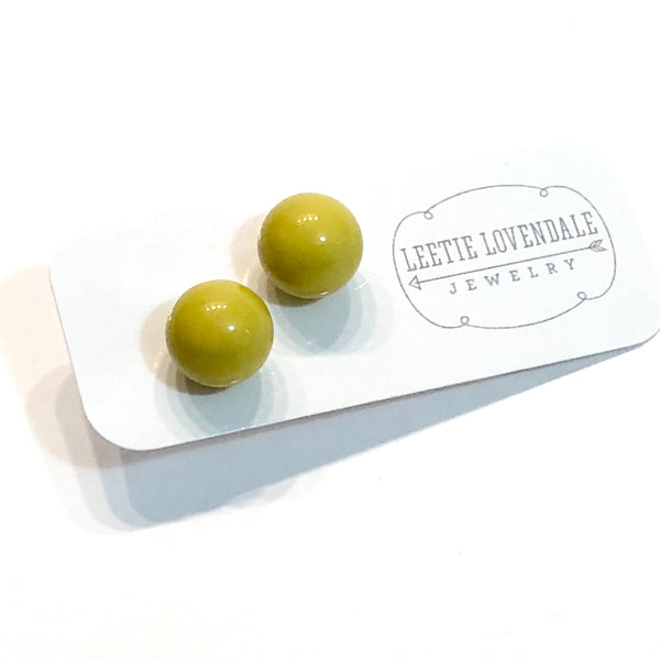 chartreuse studs