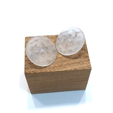 frosted clear studs