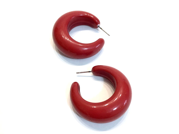 dark red lucille hoops