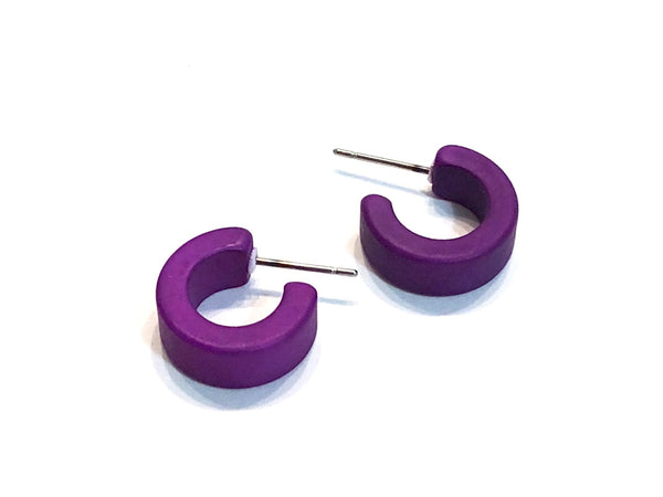 matte violet earrings