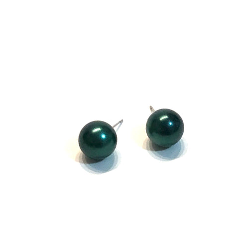 teal pearlized studs