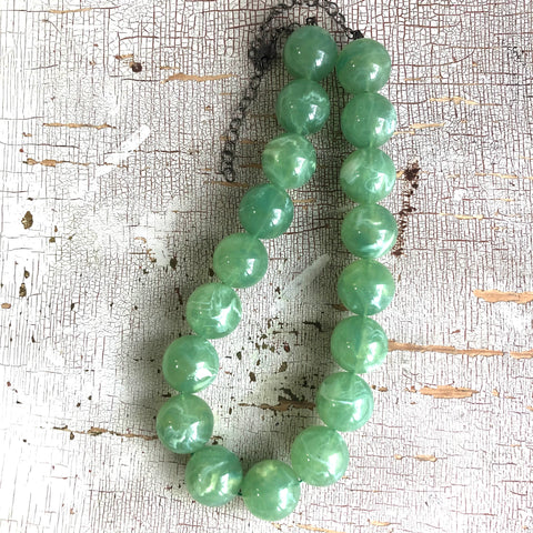 Sage Green Opal Marco Necklace