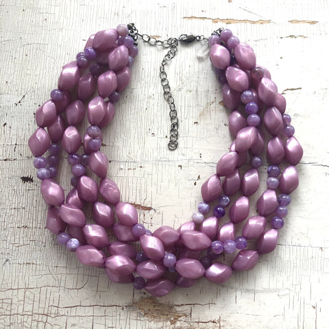 lilac purple necklace
