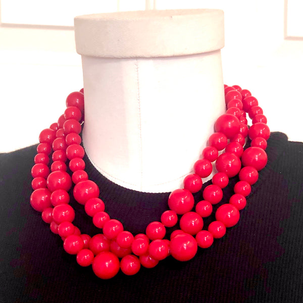 red lucite necklace