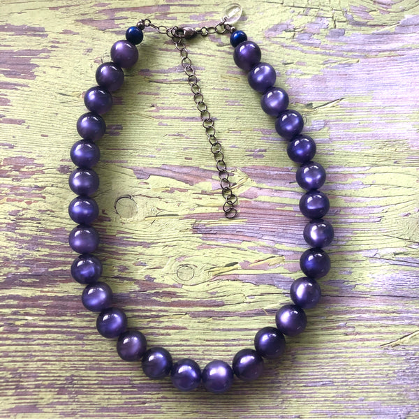 deep blue necklace