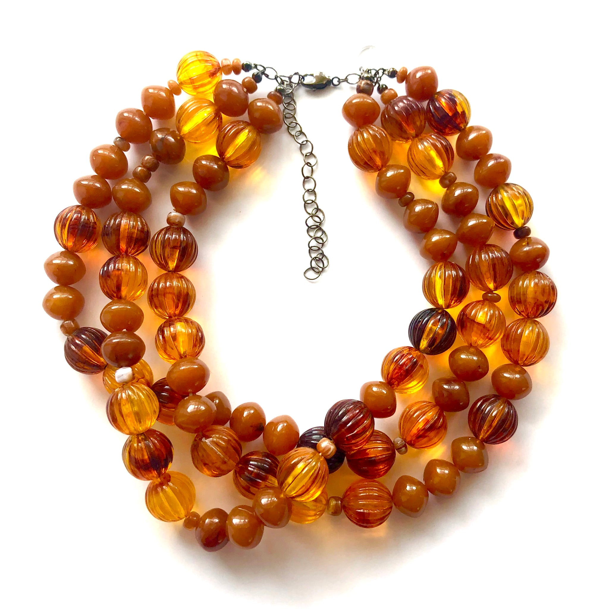 amber chunky necklace