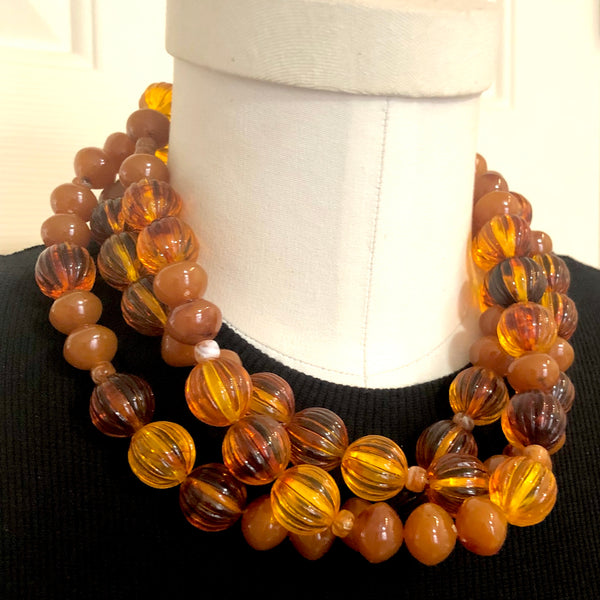 variegated orange necklace