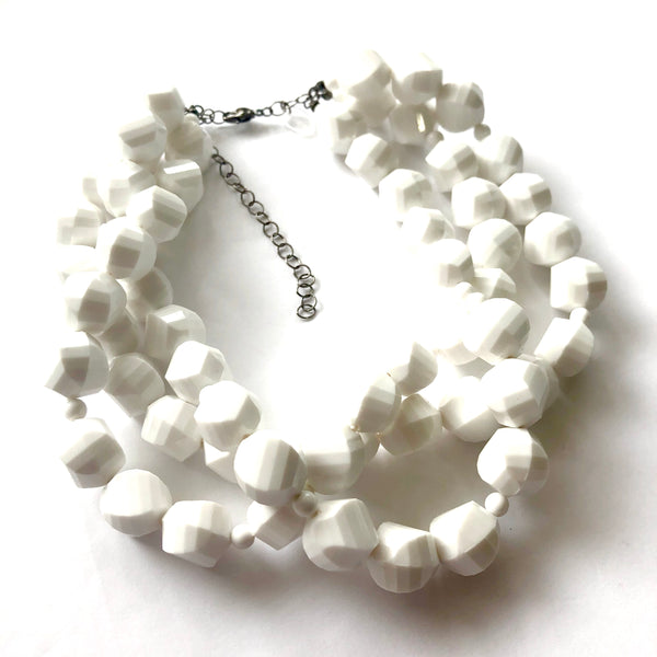 bright white necklace