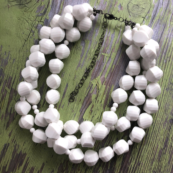 white lucite jewelry