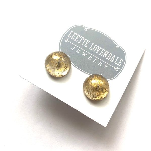 gold lucite earrings