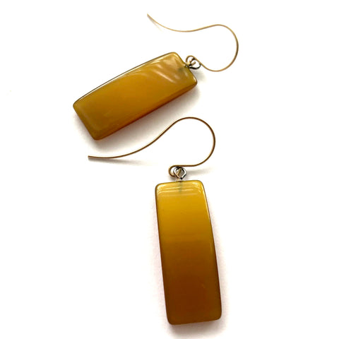 golden yellow earrings