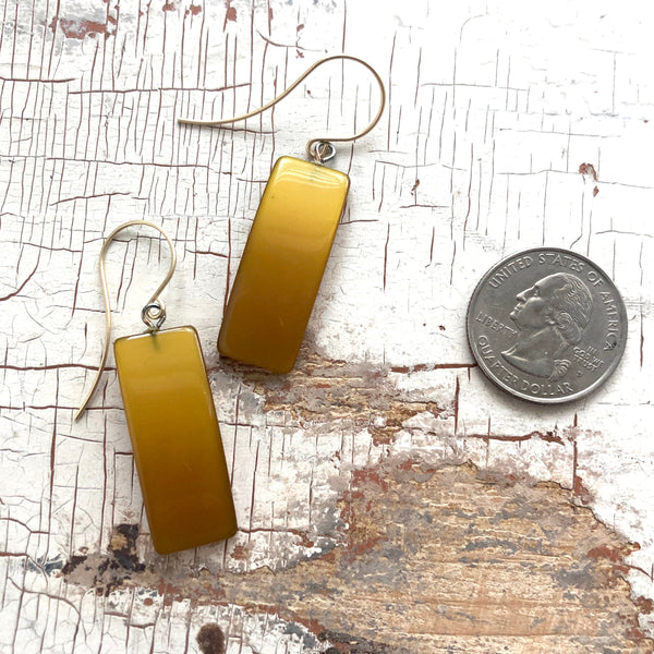 dark gold earrings
