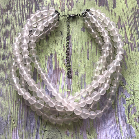 frosted acrylic necklace