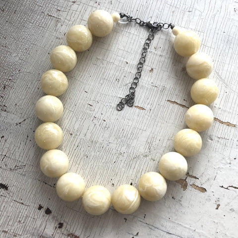 chunky ivory necklace
