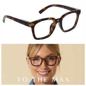 To the Max Readers Glasses Light Blocking - Tortoise