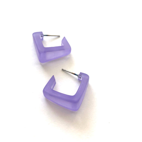 indigo blue square hoops