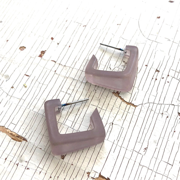 light taupe earrings