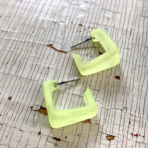 neon yellow hoops