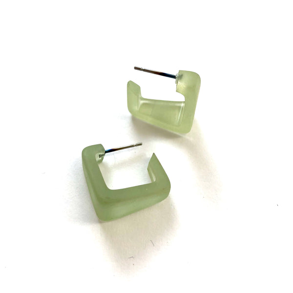 light green square hoops