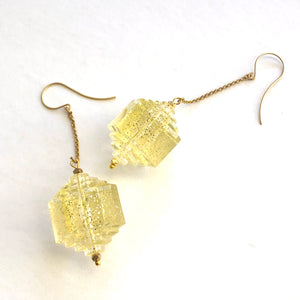 clear glitter earrings