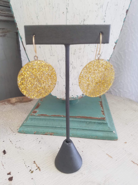 clear gold earrings
